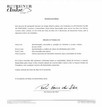 Convocatória – Assembleia Geral 2019.05.30